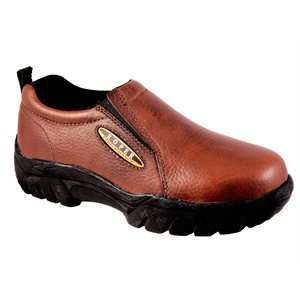 SLIP ON - ROPER BAY BROWN TUMBLED LEATHER
