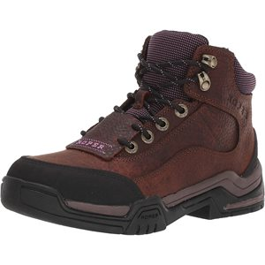 LADIES BROWN / LILAC LEATHER KITLE ROPER BOOTS