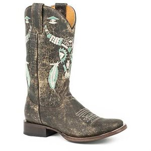 LADIES AZTEK STEER BROWN BOOTS