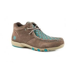 LADIES BROWN SUEDE LACE UP ROPER SHOE