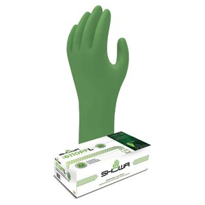 BIODEGRADABLE NITRILE GLOVES - GREEN, 4MIL